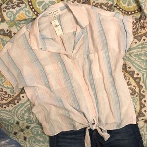 Anthropologie Cloth & Stone button-down blouse